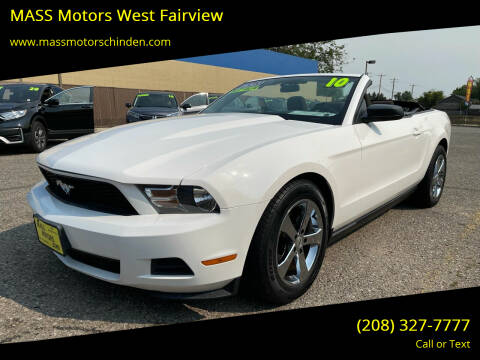 2010 Ford Mustang for sale at MASS Motors West Fairview in Boise ID