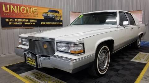 1991 Cadillac Brougham for sale at UNIQUE SPECIALTY & CLASSICS in Mankato MN