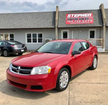 2013 Dodge Avenger for sale at Stephen Motor Sales LLC in Caldwell OH