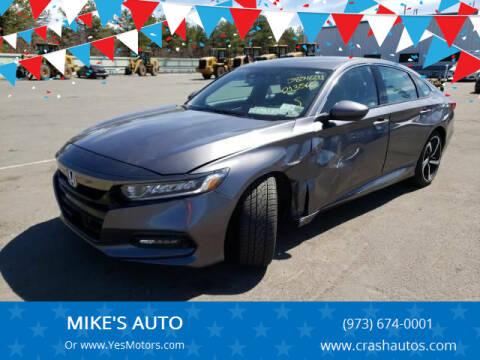 2019 Honda Accord for sale at MIKE'S AUTO in Orange NJ