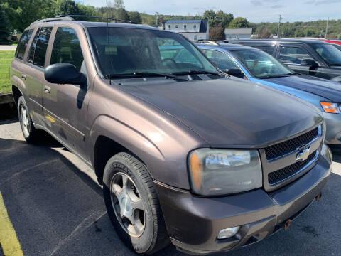 2008 Chevrolet TrailBlazer for sale at BURNWORTH AUTO INC in Windber PA