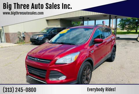 2016 Ford Escape for sale at Big Three Auto Sales Inc. in Detroit MI