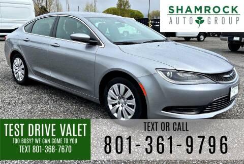 2016 Chrysler 200 for sale at Shamrock Group LLC #1 in Pleasant Grove UT