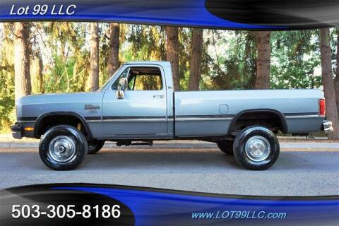 1993 Dodge RAM 250 for sale at LOT 99 LLC in Milwaukie OR