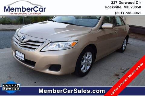 2010 Toyota Camry for sale at MemberCar in Rockville MD
