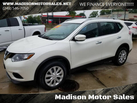 2015 Nissan Rogue for sale at Madison Motor Sales in Madison Heights MI
