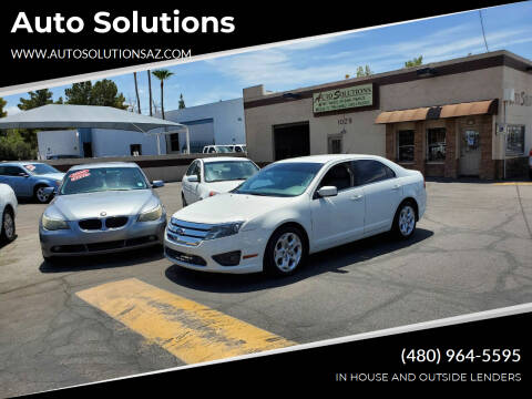 2011 Ford Fusion for sale at Auto Solutions in Mesa AZ