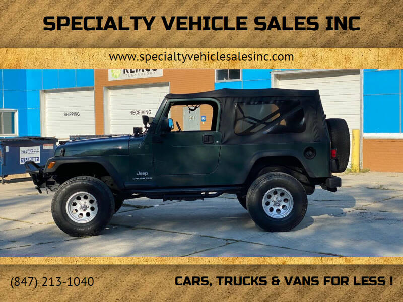 2004 Jeep Wrangler for sale at SPECIALTY VEHICLE SALES INC in Skokie IL