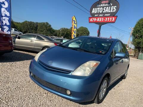 2004 Toyota Prius for sale at McAllister's Auto Sales LLC in Van Buren AR