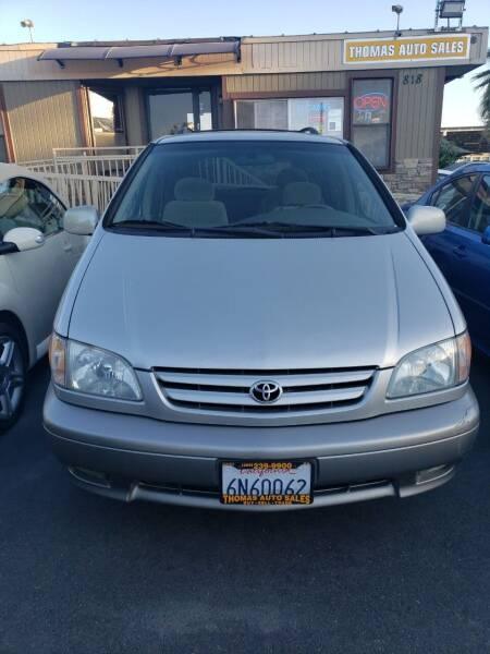 2001 Toyota Sienna for sale at Thomas Auto Sales in Manteca CA