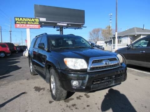 2006 Toyota 4Runner for sale at Hanna's Auto Sales in Indianapolis IN
