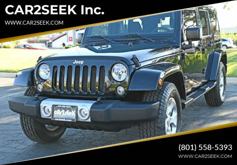 2015 Jeep Wrangler Unlimited for sale at CAR2SEEK Inc. in Salt Lake City UT