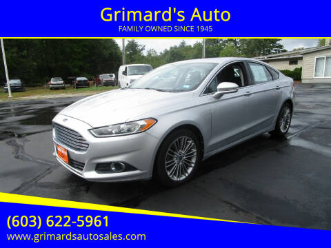 2013 Ford Fusion for sale at Grimard's Auto in Hooksett, NH