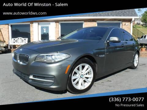 2014 BMW 5 Series for sale at Auto World Of Winston - Salem in Winston Salem NC
