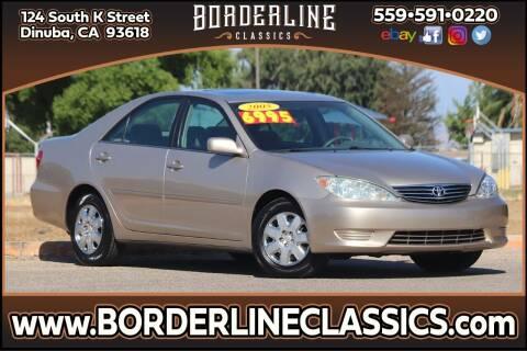 2005 Toyota Camry for sale at Borderline Classics in Dinuba CA