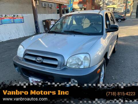 2005 Hyundai Santa Fe for sale at Vanbro Motors Inc in Staten Island NY
