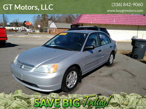 2001 Honda Civic for sale at GT Motors, LLC in Elkin NC