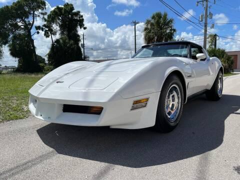 1982 Chevrolet Corvette for sale at American Classics Autotrader LLC in Pompano Beach FL