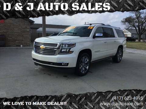 2015 Chevrolet Suburban for sale at D & J AUTO SALES in Joplin MO
