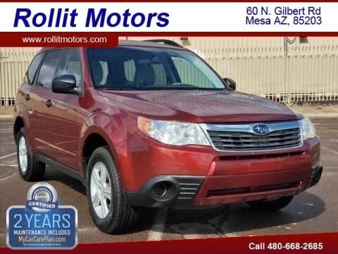 2010 Subaru Forester for sale at Rollit Motors in Mesa AZ