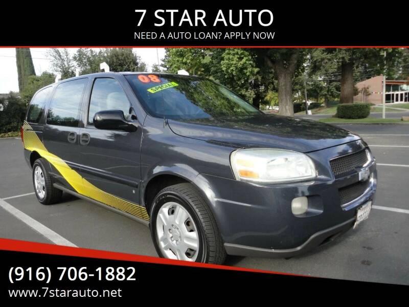 2008 Chevrolet Uplander for sale at 7 STAR AUTO in Sacramento CA
