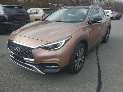 2017 Infiniti QX30 for sale at Mulligan's Auto Exchange LLC in Paxinos PA