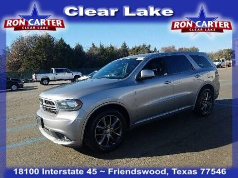 2015 Dodge Durango for sale at Ron Carter  Clear Lake Used Cars in Houston TX