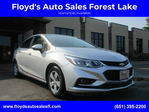 2018 Chevrolet Cruze for sale at Floyd's Auto Sales Forest Lake in Forest Lake MN