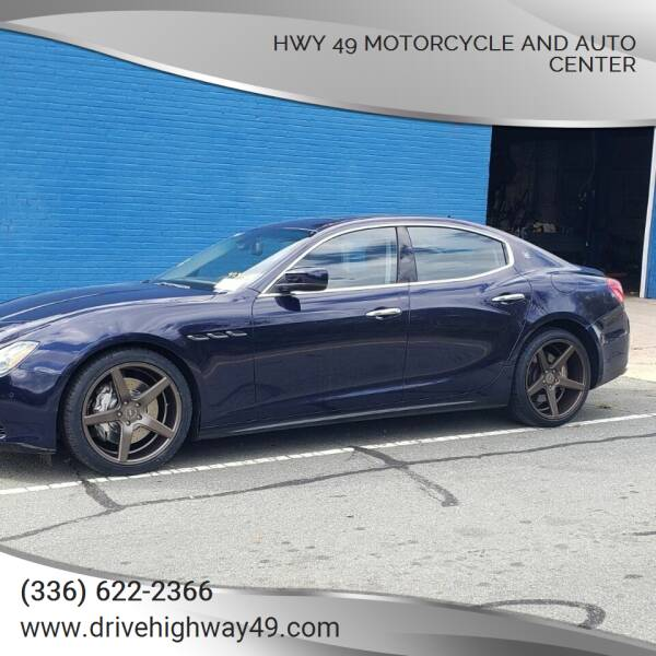 2015 Maserati Ghibli for sale at HWY 49 MOTORCYCLE AND AUTO CENTER in Liberty NC