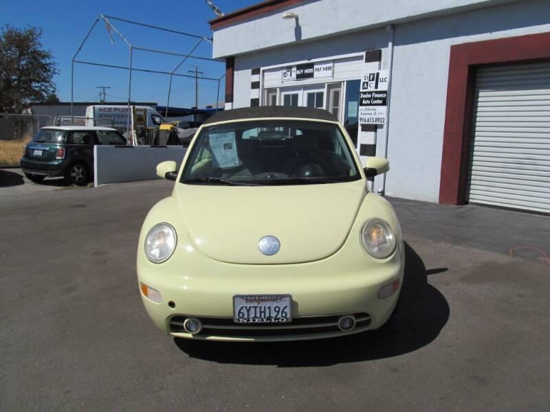 2005 Volkswagen New Beetle Convertible for sale at Dealer Finance Auto Center LLC in Sacramento CA
