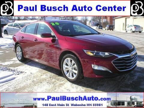 2020 Chevrolet Malibu for sale at Paul Busch Auto Center Inc in Wabasha MN