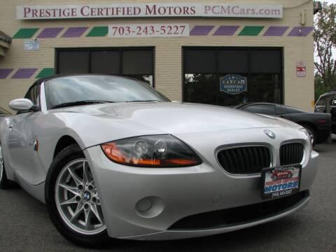2004 BMW Z4 for sale at Prestige Certified Motors in Falls Church VA