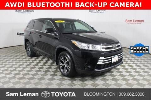 2018 Toyota Highlander for sale at Sam Leman Toyota Bloomington in Bloomington IL