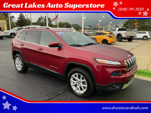 2014 Jeep Cherokee for sale at Great Lakes Auto Superstore in Waterford Township MI