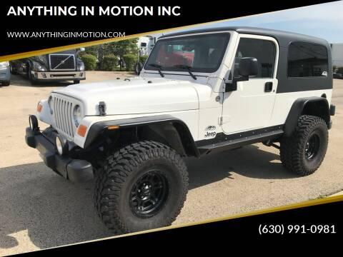 2006 Jeep Wrangler for sale at ANYTHING IN MOTION INC in Bolingbrook IL