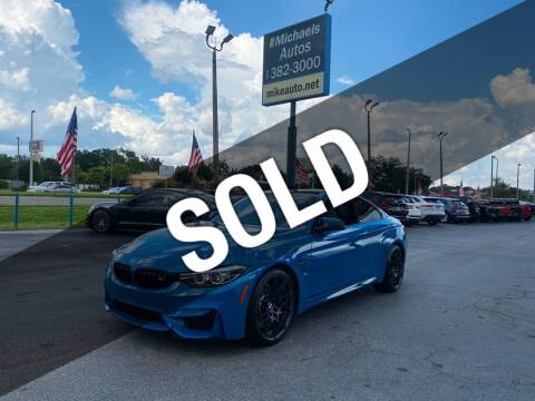 2020 BMW M4 for sale at Michaels Autos in Orlando FL