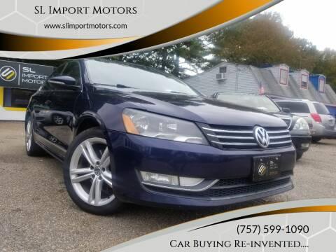 2012 Volkswagen Passat for sale at SL Import Motors in Newport News VA
