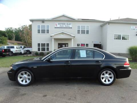 2006 BMW 7 Series for sale at SOUTHERN SELECT AUTO SALES in Medina OH