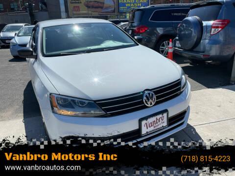 2016 Volkswagen Jetta for sale at Vanbro Motors Inc in Staten Island NY