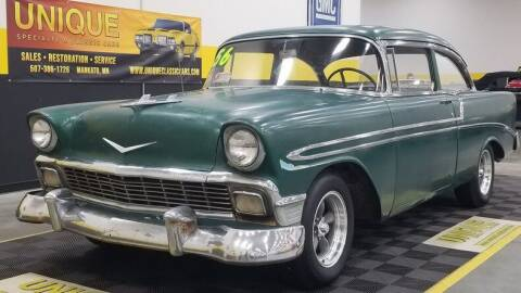 1956 Chevrolet Bel Air for sale at UNIQUE SPECIALTY & CLASSICS in Mankato MN