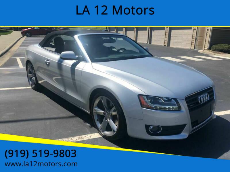 2010 Audi A5 for sale at LA 12 Motors in Durham NC