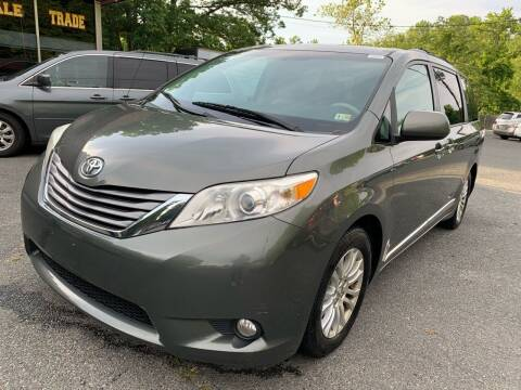 2012 Toyota Sienna for sale at D & M Discount Auto Sales in Stafford VA