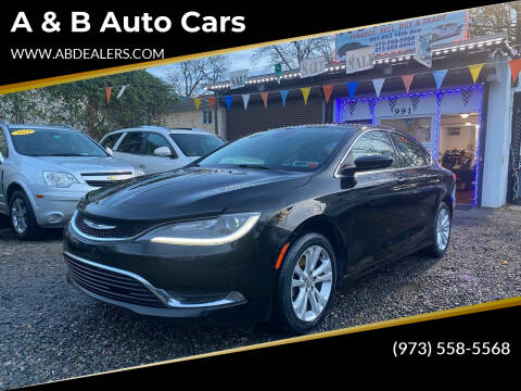 2015 Chrysler 200 for sale at A & B Auto Cars in Newark NJ