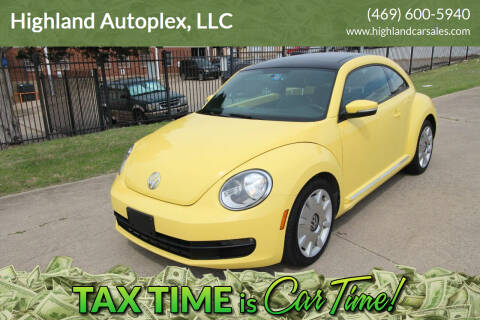 2013 Volkswagen Beetle for sale at Highland Autoplex, LLC in Dallas TX