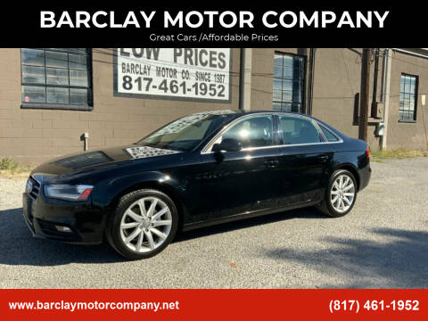 2013 Audi A4 for sale at BARCLAY MOTOR COMPANY in Arlington TX