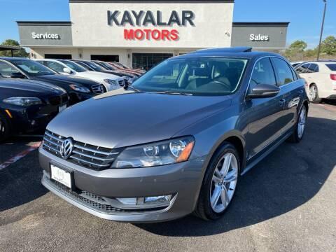 2012 Volkswagen Passat for sale at KAYALAR MOTORS in Houston TX