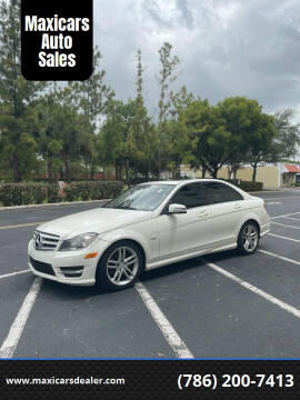 2012 Mercedes-Benz C-Class for sale at Maxicars Auto Sales in West Park FL