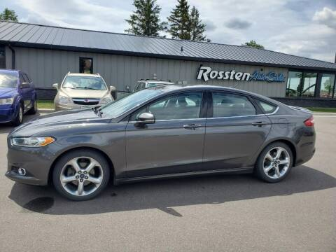 2016 Ford Fusion for sale at ROSSTEN AUTO SALES in Grand Forks ND