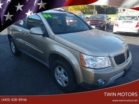 2008 Pontiac Torrent for sale at TWIN MOTORS in Madison OH