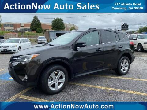2013 Toyota RAV4 for sale at ACTION NOW AUTO SALES in Cumming GA